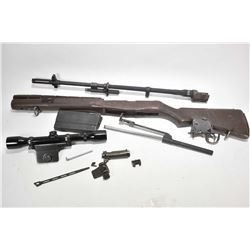 Lot of Winchester M14 parts including bolt, slide, mag, scope attachment with Bushnell scope, trigge