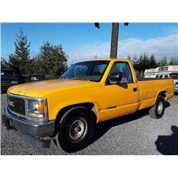 """A9 --  1994 GMC 2500 3/4 TONNE  , Yellow , 278890  KM's""""NO RESERVE"""""""
