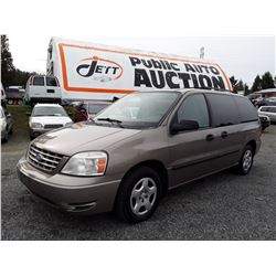 A7 --  2006 FORD FREESTAR , Brown , 154018  KM's