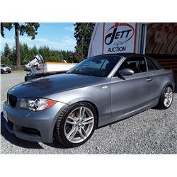 E6 --  2009 BMW 135I CONVERTIBLE , Grey , 96069  KM's