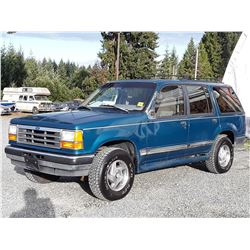 A8 --  1993 FORD EXPLORER , Green , 237158  KM's