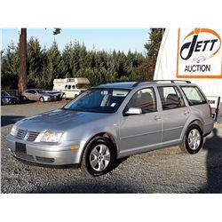 Q1 --  2003 VW JETTA GLS  , Silver , 227054  KM's