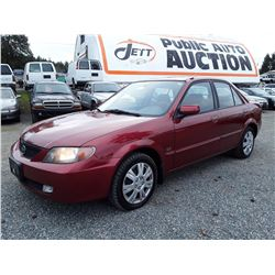 """A12B --  2002 MAZDA PROTEGE DX , Red , 164702  KM's """"NO RESERVE"""""""