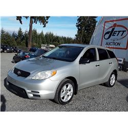 """A12H --  2003 TOYOTA MATRIX XR , Silver , 299,999 ODO NOT WORKING  KM's  """"NO RESERVE"""""""