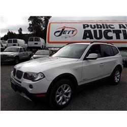 C6D --  2010 BMW X3 , White , 165554  KM's