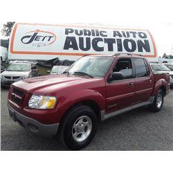 K5 --  2001 FORD EXPLORER SPORT TRAC, RED, 203,321 KMS