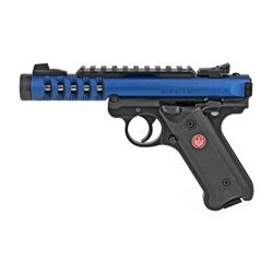 """RUGER MK IV LITE 22LR 4.4"""" BLUE 10RD"""