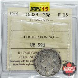 Canada Twenty Five Cent 1882H (ICCS Cert F-15)