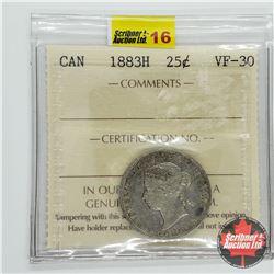 Canada Twenty Five Cent 1883H (ICCS Cert VF-30)