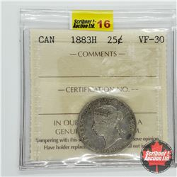 Canada Twenty Five Cent 1883H (ICCS Cert VF-30)