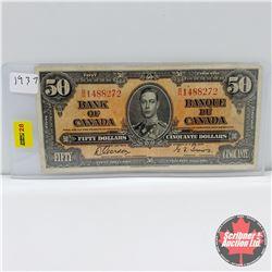 Canada $50 Bill 1937  Gordon/Towers : S/N#BH1488272