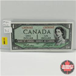 Canada $1 Bill 1954DF  Beattie/Coyne : S/N#LA2656345