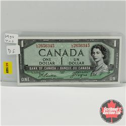 Canada $1 Bill 1954DF  Beattie/Coyne : S/N#LA2656345