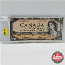 Canada $50 Bill 1954  Beattie/Coyne : S/N#AH6997960