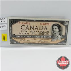 Canada $50 Bill 1954DF  Beattie/Coyne : S/N#AH1620751
