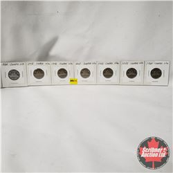 Canada Five Cent - Strip of 7: 1954; 1955; 1956; 1957; 1958; 1959; 1960