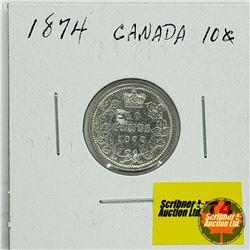 Canada Ten Cent 1874H
