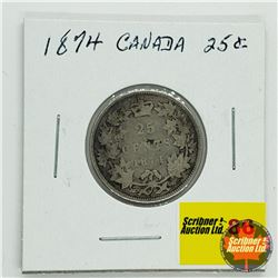 Canada Twenty Five Cent 1874