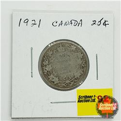 Canada Twenty Five Cent 1921