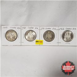 Canada Fifty Cent - Strip of 4: 1959; 1960; 1961; 1962