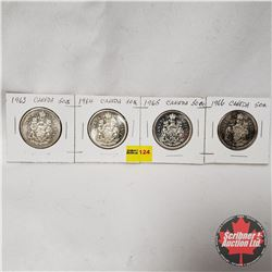 Canada Fifty Cent - Strip of 4: 1963; 1964; 1965; 1966