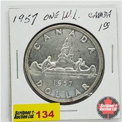 Canada Silver Dollar 1957OWL