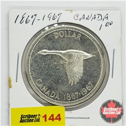 Canada Silver Dollar 1867-1967