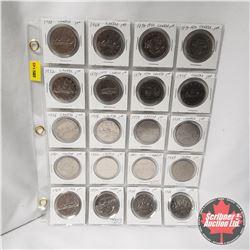 Canada One Dollar - Sheet of 20: 1968; 1969; 1870-1970; 1871-1971; 1972; 1873-1973; 1874-1974; 1975;