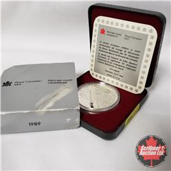 CHOICE OF 8 : Canada Proof Mint Case Silver Dollar 1989