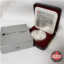 CHOICE OF 8 : Canada Proof Mint Case Silver Dollar 1990