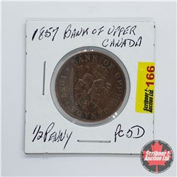 Bank of Upper Canada 1857 One Half Penny