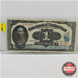 Government of Newfoundland $1 Bill 1920 : Hickey/Brownrigg S/N#A378403