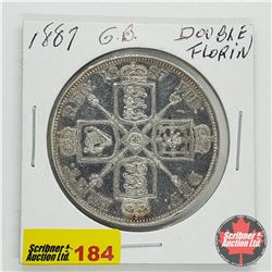 Great Britain Double Florin 1887