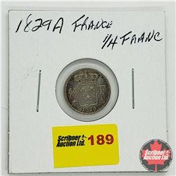 France 1/4 Franc 1829 A