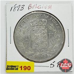 Belgium 5 Francs 1873