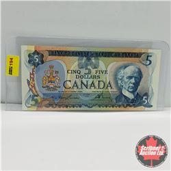 Canada $5 Bill 1979 : Lawson/Bouey S/N#30277586574