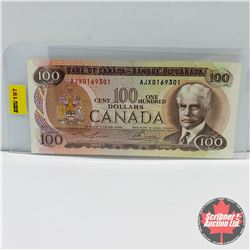Canada $100 Bill 1975 (Replacement) : Lawon/Bouey S/N#AJX0169301