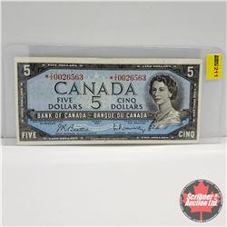 Canada $5 Bill 1954 (Replacement) : Beattie/Rasminsky S/N#*TX0026563