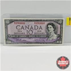 Canada $10 Bill 1954 : Beattie/Rasminsky S/N#RV3783000