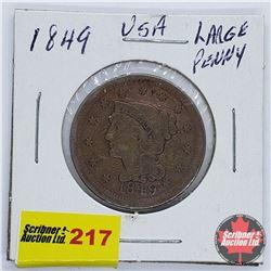 USA Large Penny 1849