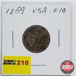 USA One Penny 1859