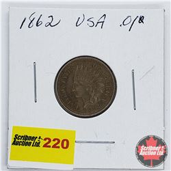 USA One Penny 1862