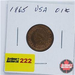 USA One Penny 1865