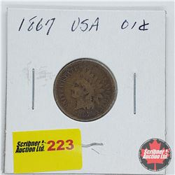 USA One Penny 1867