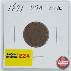 USA One Penny 1871