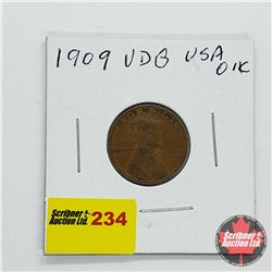USA One Penny 1909 VDB