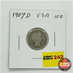USA Ten Cent 1907D