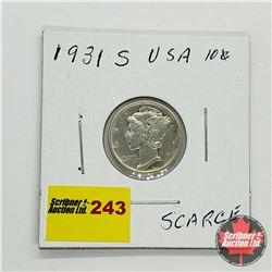 USA Ten Cent 1931S