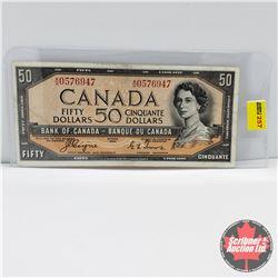 Canada $50 Bill 1954DF : Coyne/Towers S/N#AH0576947