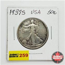 USA Half Dollar 1937S